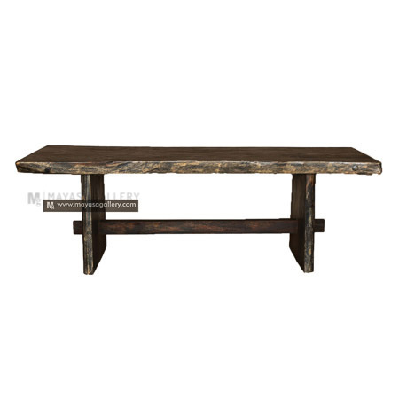 black washed dining table